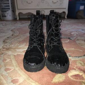 Katy Perry Gia Velvet Boots Size 8